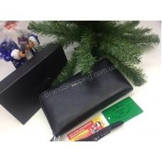 Оригинальный кошелек Prada из натуральной кожи в подарочной упаковке 1688