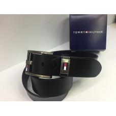 Ремень Tommy Hilfiger в черном цвете из натуральной кожи в подарочной упаковке арт 20220