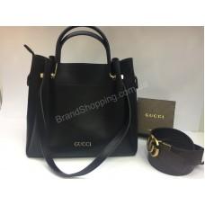 Женская сумка Gucci 2в1 в черном цвете арт 20231