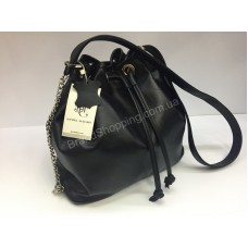 Стильная сумка -рюкзачок на завязке из натуральной кожи 20246