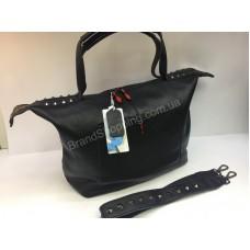 Брендовая женская сумка из натуральной кожи Christian Louboutin в черном цвете арт 20245