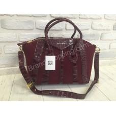 Женская кожаная сумка Givenchy red 0297s