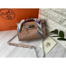 Сумка Hermes Kelly mini в пудровом цвете арт21521
