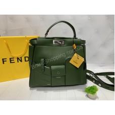 Сумка Fendi в зеленом цвете Премиум класс арт 20418