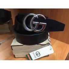 Кожаный ремень Gucci черный ширина 3,5 см 0714
