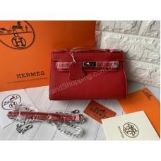 Hermes Kelly mini в красном цвете арт21523