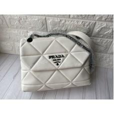 Сумка Prada  белая  натуральная кожа арт21526