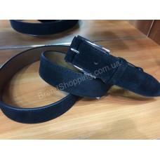 Замшевый кожаный ремень 0567 ширина 3,5 см мужской/женский