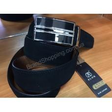 Замшевый кожаный ремень Alon 0969 с автоматической пряжкой ширина 3,5см