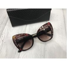 Очки Dolce&Gabbana коричневые в полном комплекте арт 20552