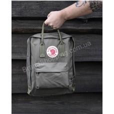 Стильный рюкзак KANKEN с лисой цвет хакки арт 20340