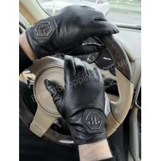 Кожаные мужские перчатки PhilippPlein арт20374