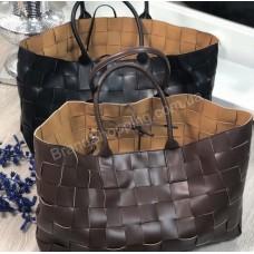 Сумка Bottega Veneta Tote Bag реплика цвет шоколад арт 21164